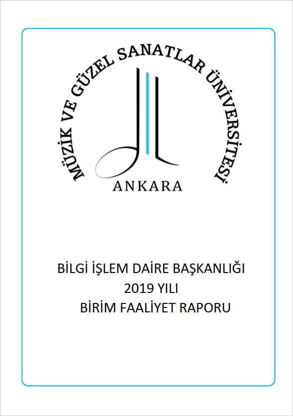 2019 Yılı Birim Faaliyet Raporu