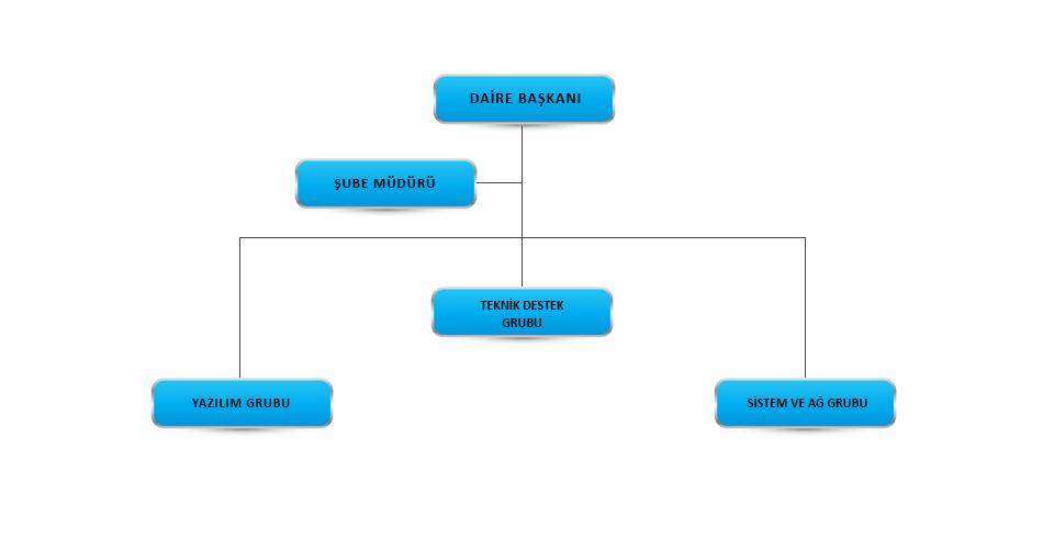 Bilgi İşlem Daire Başkanlığı   Organizasyon Şeması