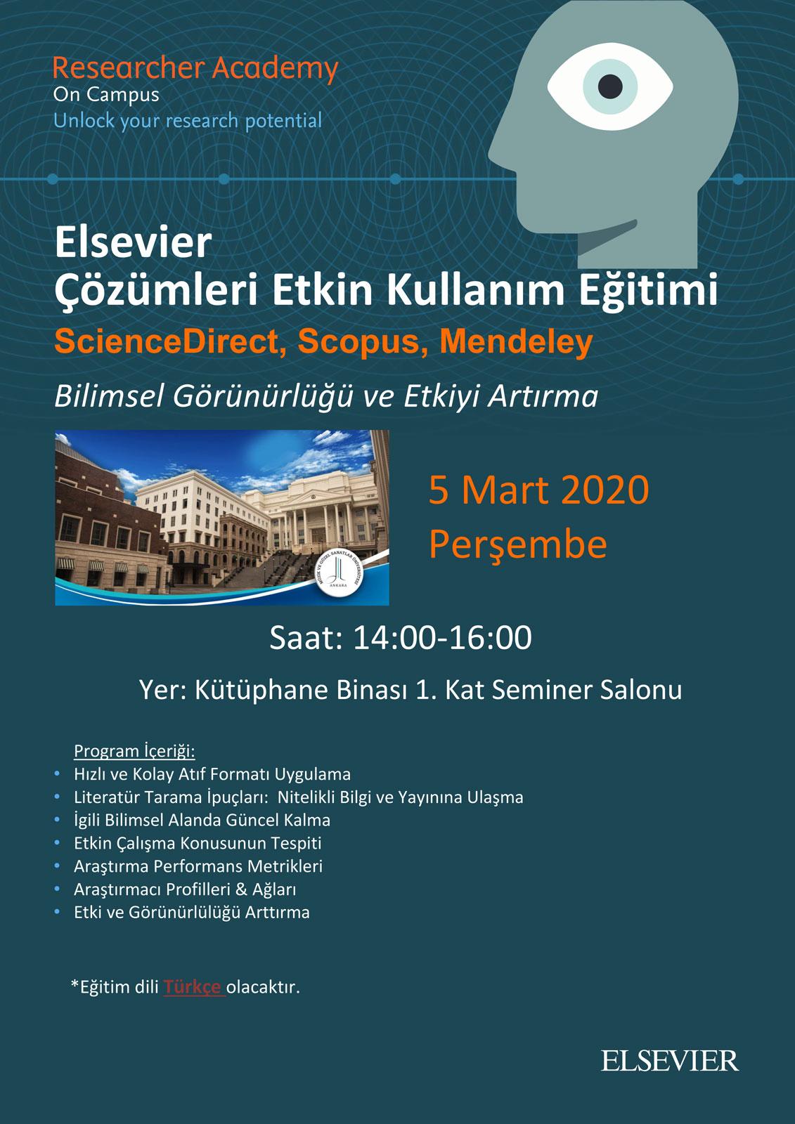 Elsevier Çözümleri Etkin Kullanım Eğitimi