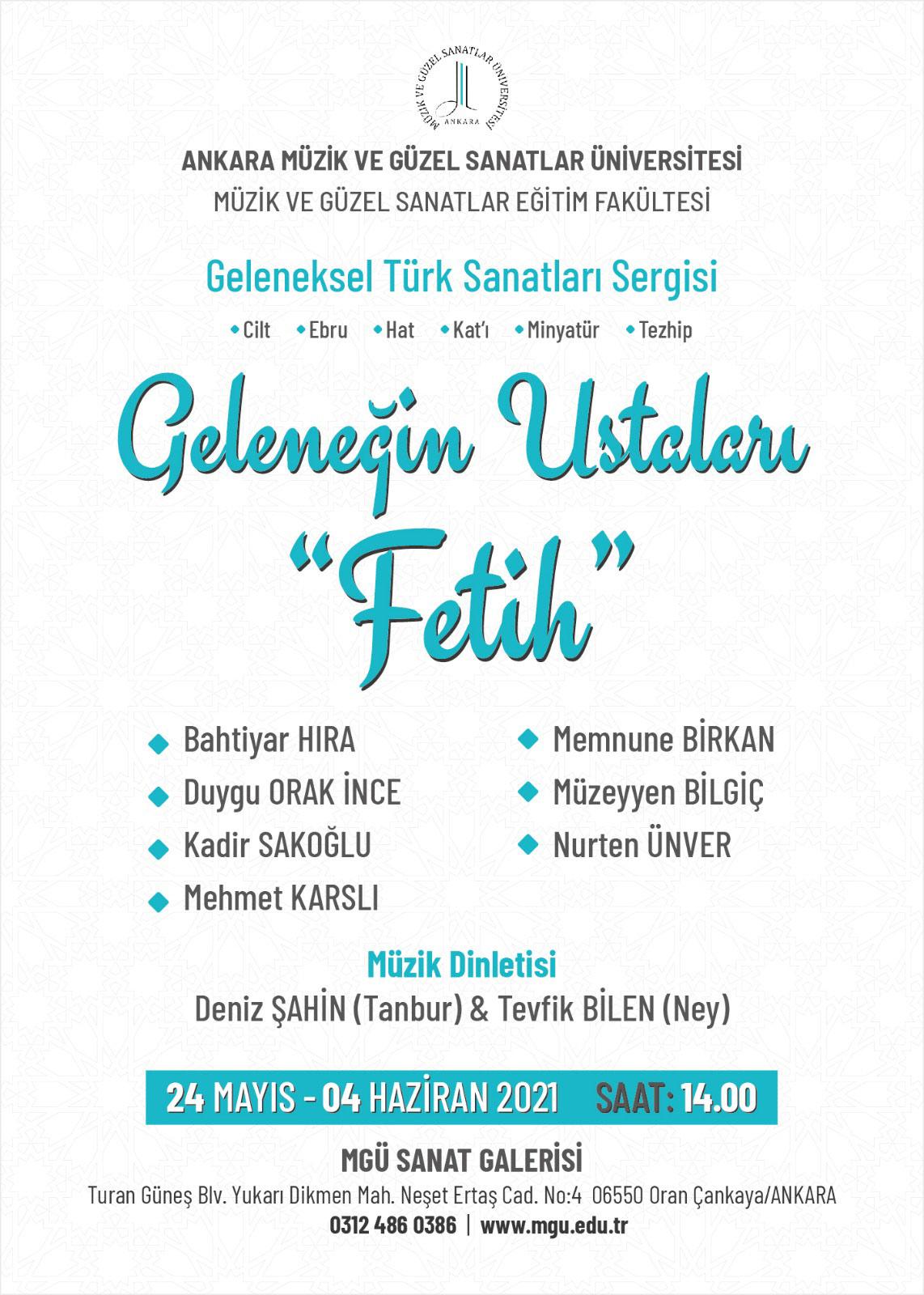 """GELENEĞİN USTALARI """"FETİH"""" GELENEKSEL TÜRK SANATLARI SERGİSİ"""