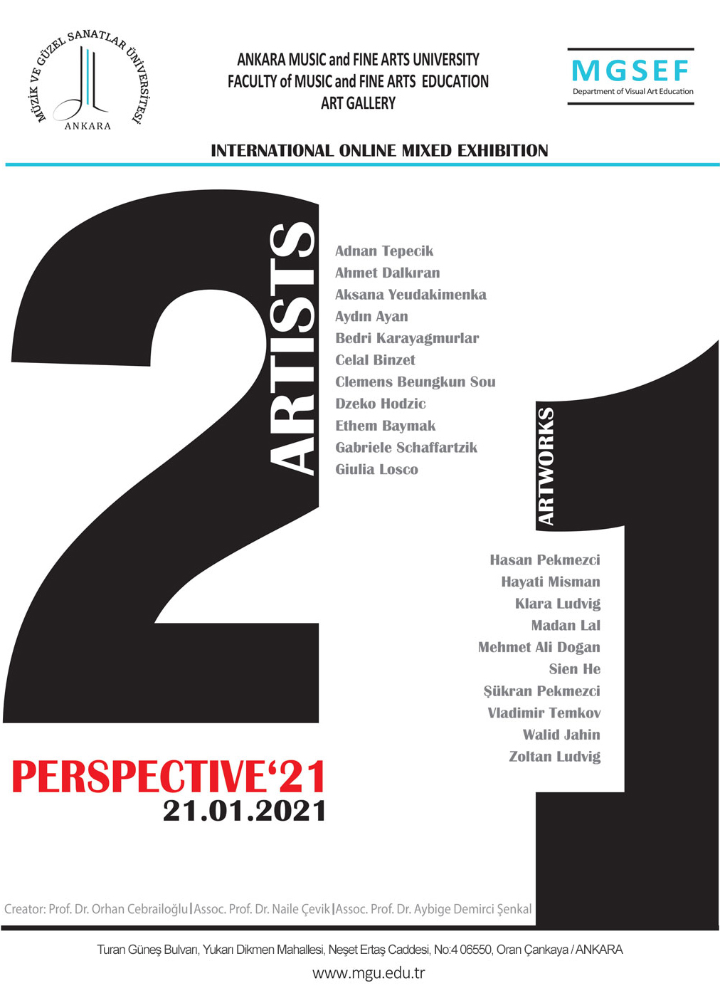 PERSPECTIVE'21 INTERNATIONAL ONLINE MIXED EXHIBITION