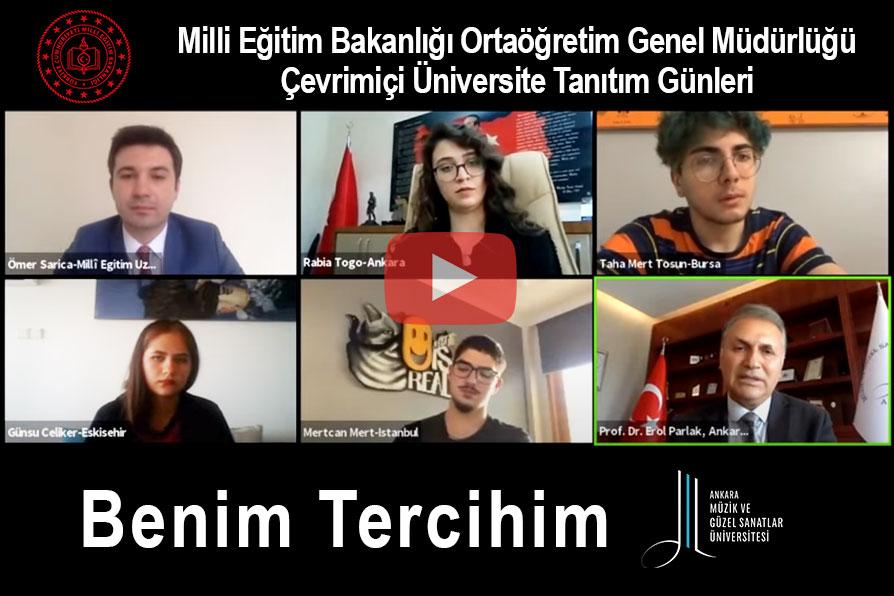 Benim Tercihim | Ankara Müzik ve Güzel Sanatlar Üniversitesi