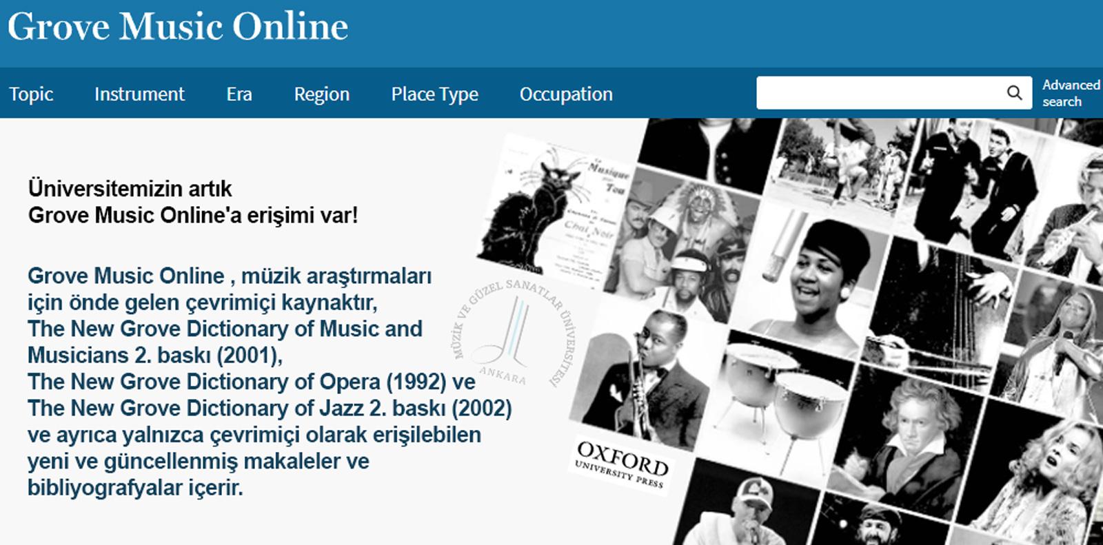 Grove Music Online Slide