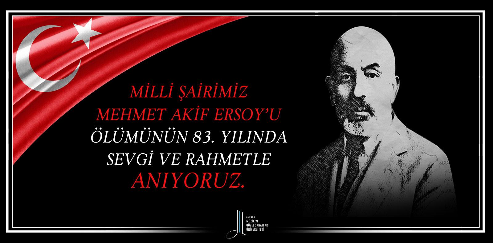 Mehmet Akif Ersoy Ölüm Yıl Dönümü Slider