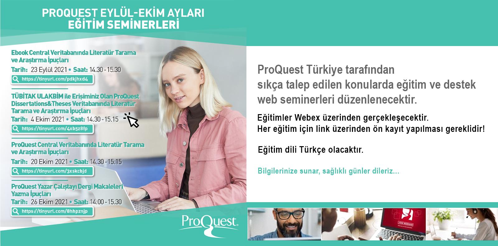 Proquest Eğitim Seminerleri Slide