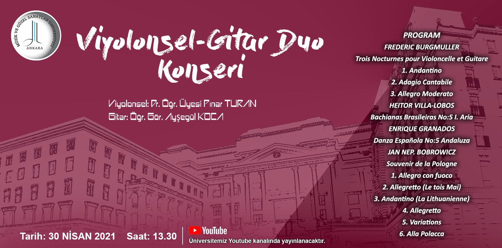 Viyolonsel Gitar Duo Konseri Slayt