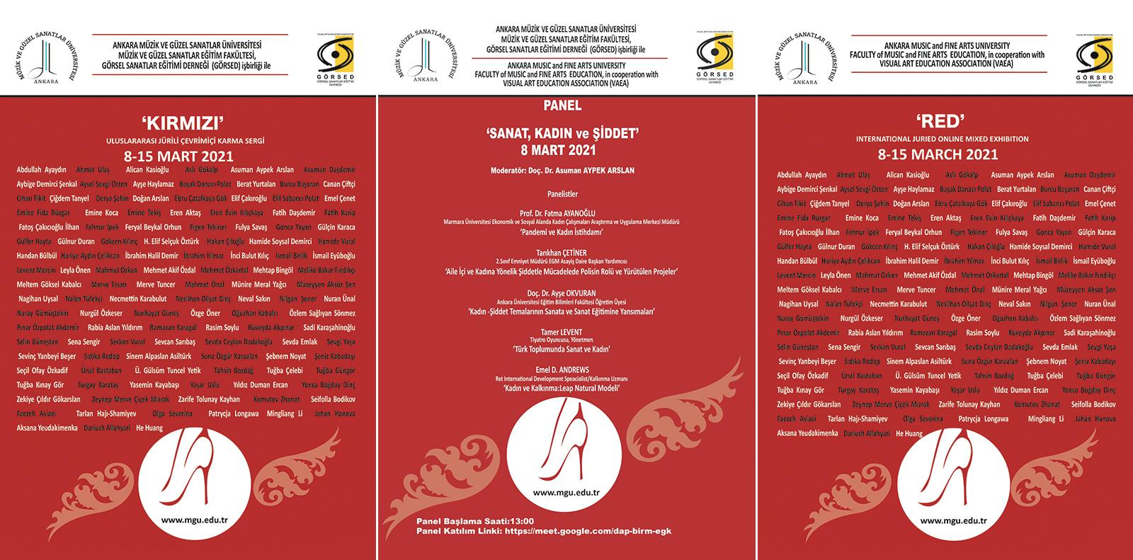 8 Mart Sanat Kadin ve Şiddet Panel Slide
