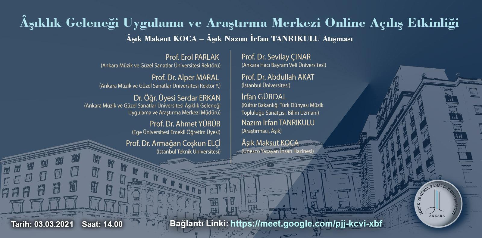AGUAM Online Açılış Etkinliği Slide