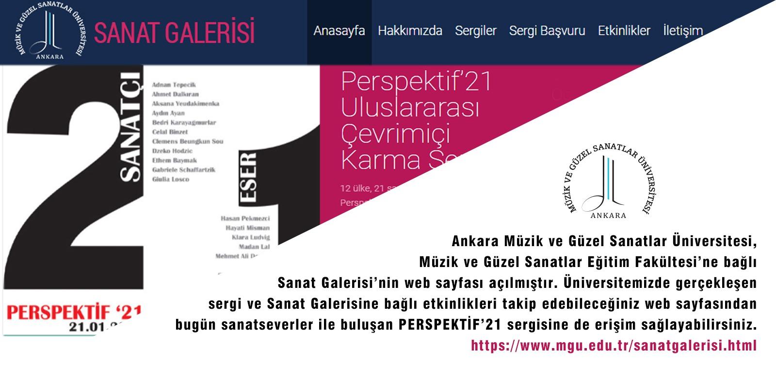 Sanat Galerisi Web Sayfası Slide