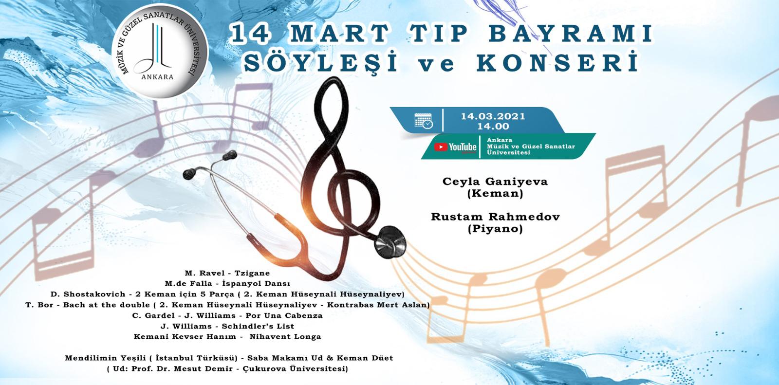 14 Mart Tıp Bayramı Söyleşi ve Konseri
