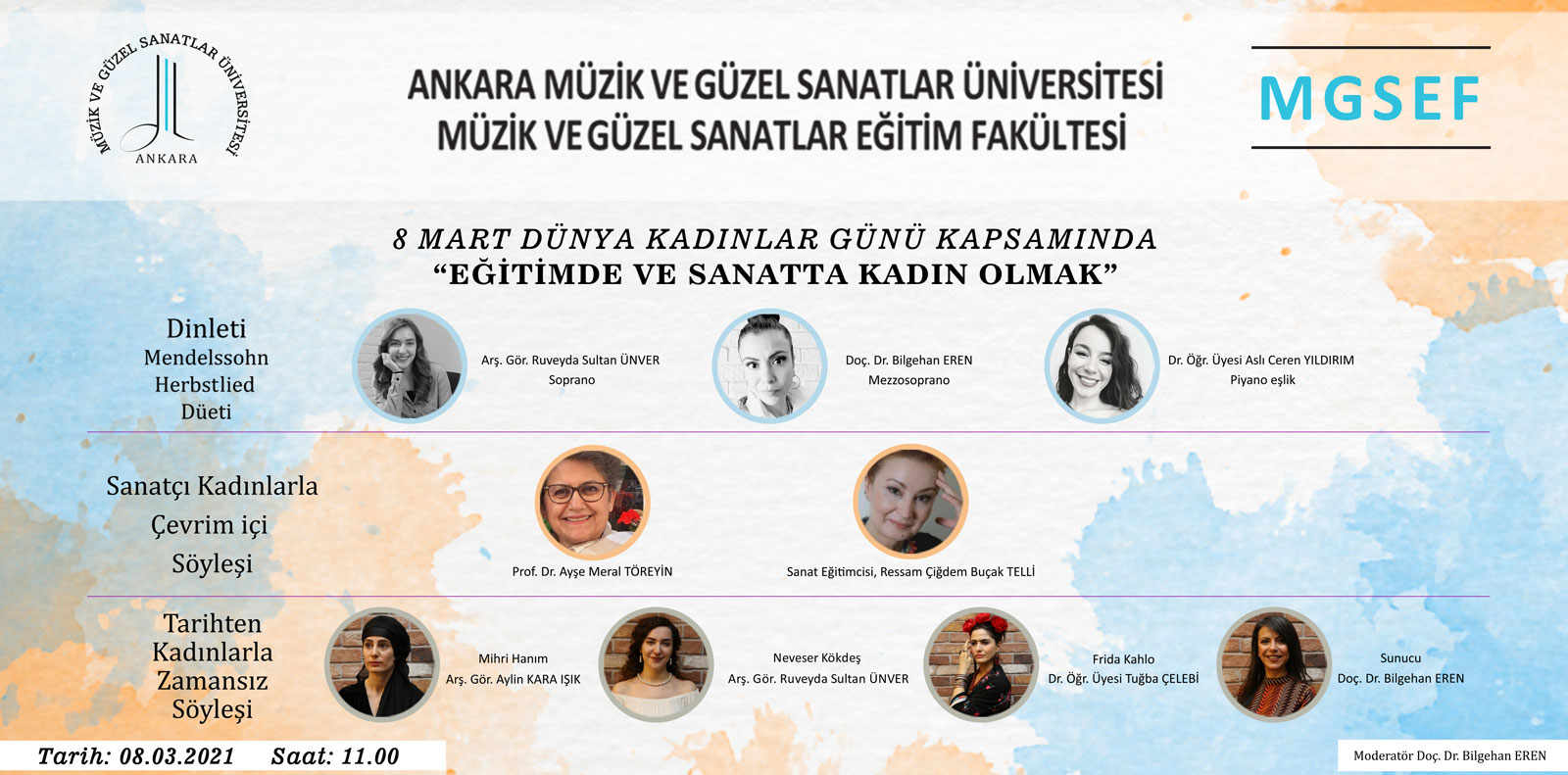 8 Mart Eğitimde ve Sanatta Kadın Olmak Slide